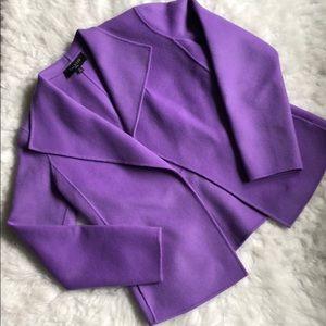 Talbots fleece cardigan/ unstructured blazer